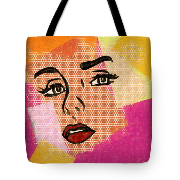 Tote Bag featuring the mixed media Pop Art Comic Woman by Dan Sproul