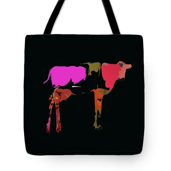 Pop Art Cow Tote Bag by James Bethanis