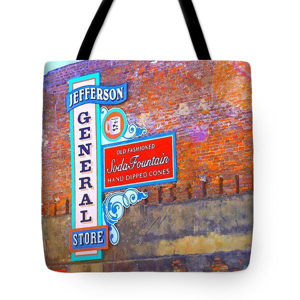 Tote Bag featuring the photograph Pop Art General Store by Ellen O'Reilly