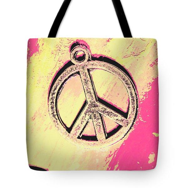 Pop Art In Peace Tote Bag