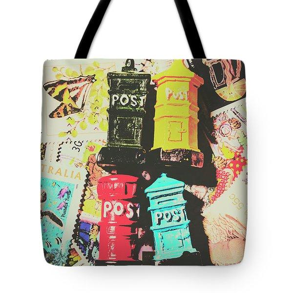Pop Art In Post Tote Bag
