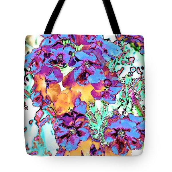 Pop Art Pansies Tote Bag by Marianne Dow