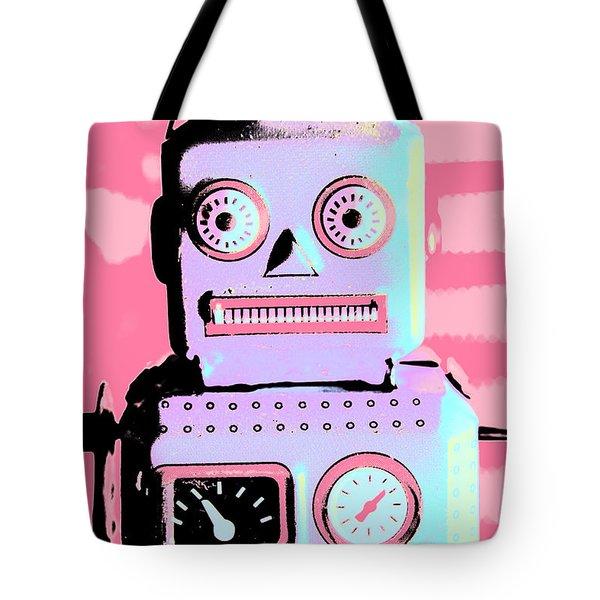 Pop Art Poster Robot Tote Bag