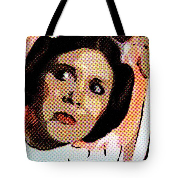 Pop Art Princess Leia Organa Tote Bag