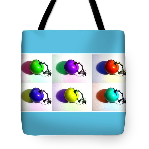 Tote Bag featuring the photograph Pop-art Tomatoes by Shawna Rowe