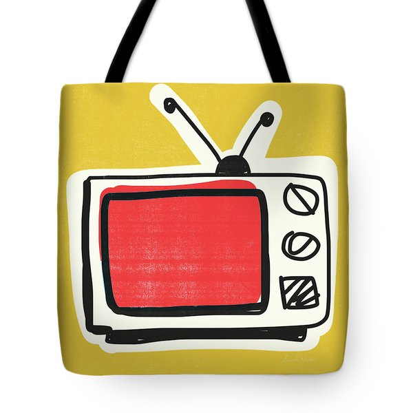 Pop Art Tv- Art By Linda Woods Tote Bag