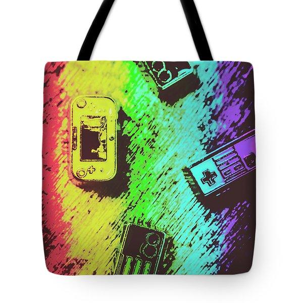 Pop Art Video Games Tote Bag