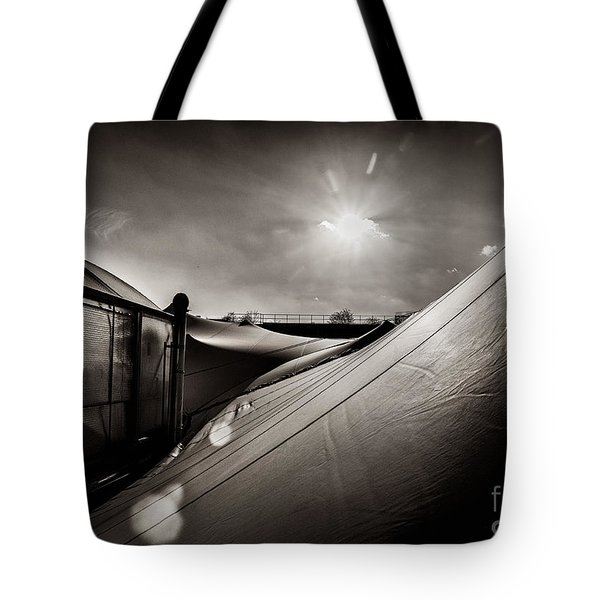 Tote Bag featuring the photograph Pop Brixton Has A New Roof by Lenny Carter