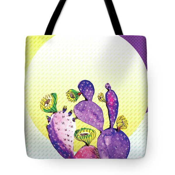 Pop Cacti - Purple Yellow Tote Bag