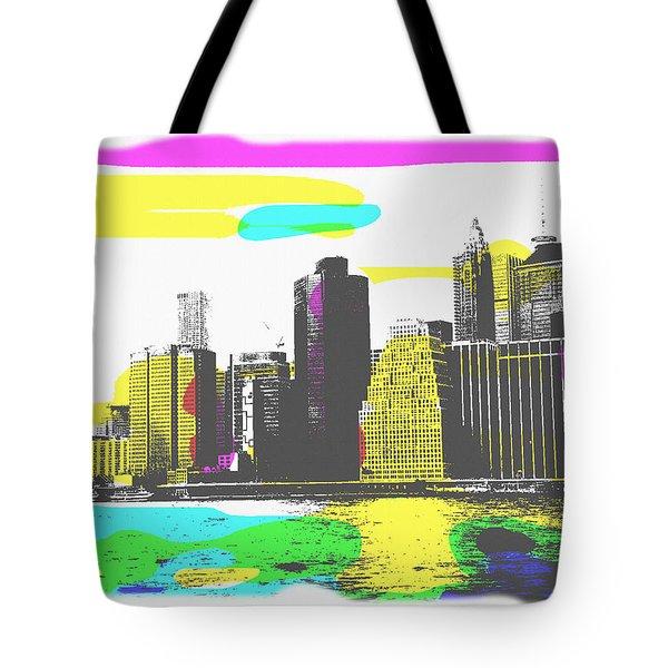 Pop City Skyline Tote Bag