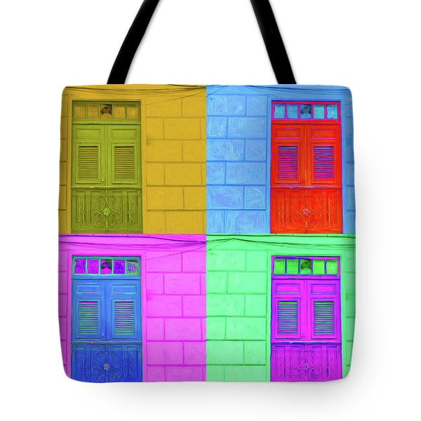 Pop Doors Tote Bag