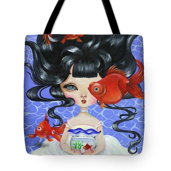Pop-eyed Goldfish Tote Bag