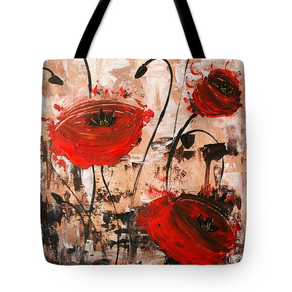 Pop Goes The Poppies Tote Bag