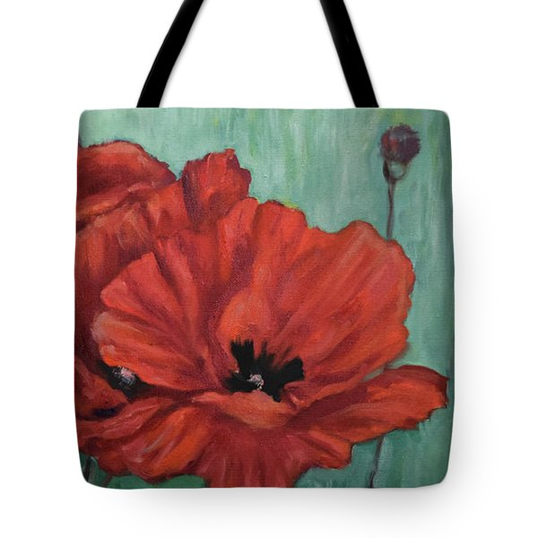 Tote Bag featuring the painting Pop Of Red by Sandra Nardone