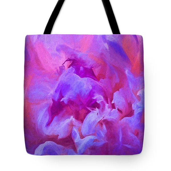 Pop Pink Peony Tote Bag