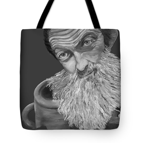 Popcorn Sutton Black And White Transparent - T-shirts Tote Bag by Jan Dappen
