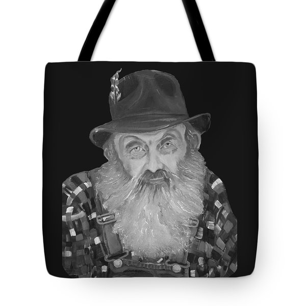 Popcorn Sutton Moonshiner Bust - T-shirt Transparent B And  W Tote Bag