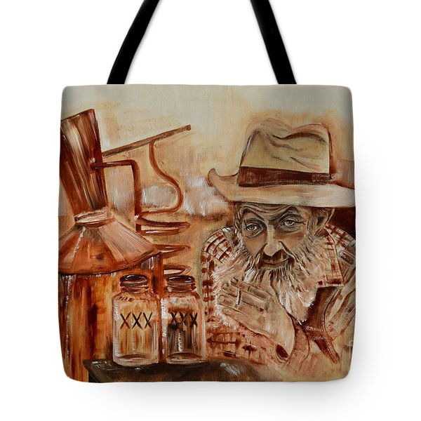 Popcorn Sutton - Waiting On Shine Tote Bag