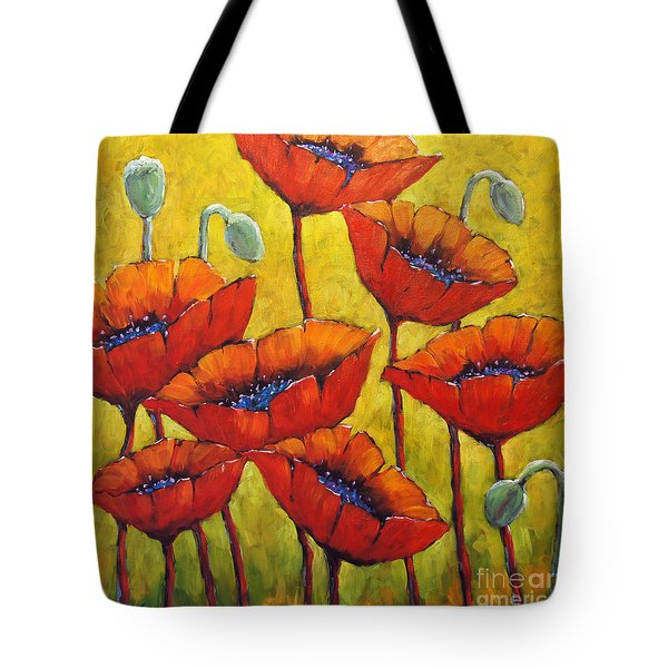 Poppies 01 Tote Bag