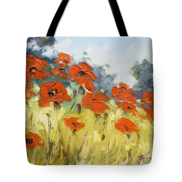 Poppies 3 Tote Bag