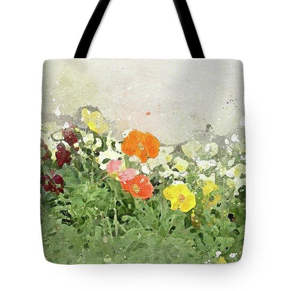 Poppies-2-c Tote Bag