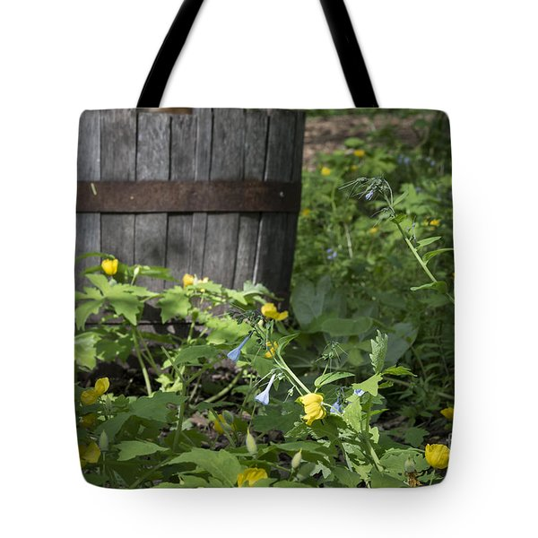 Poppies And Bluebells Tote Bag