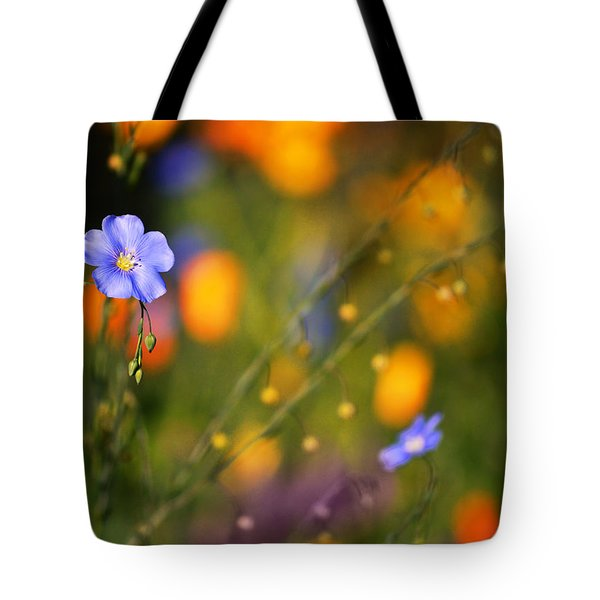 Poppies And Flax Tote Bag