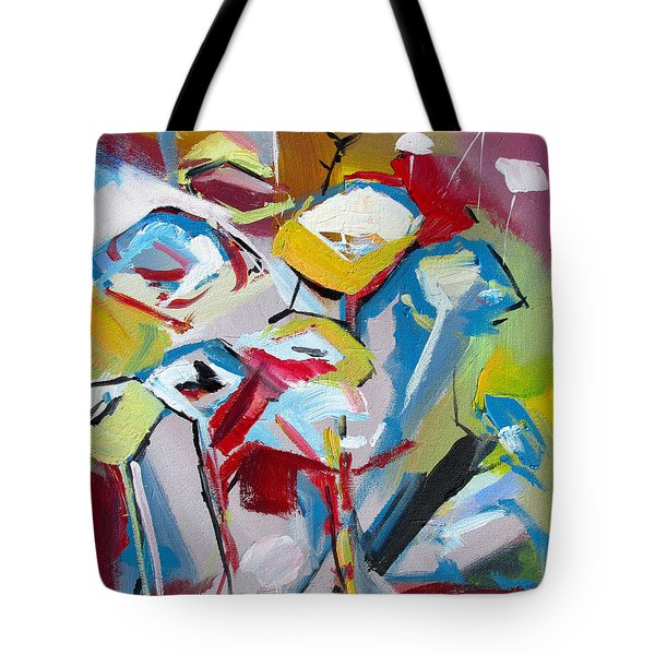Poppies And Lunch  Tote Bag