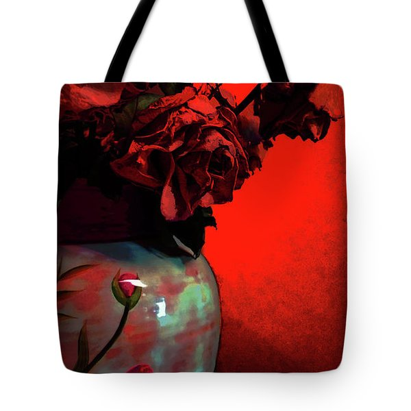 Poppies And Roses Tote Bag