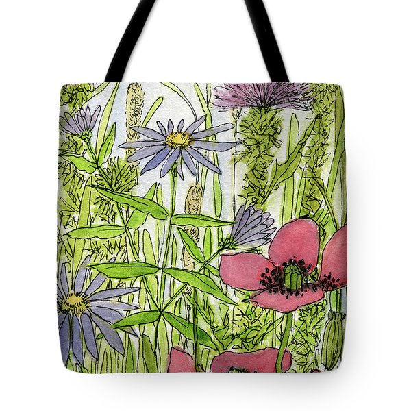 Poppies And Wildflowers Tote Bag