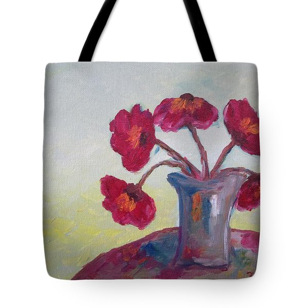 Poppies In A Vase Tote Bag