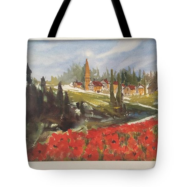 Poppies In Bloom Tote Bag