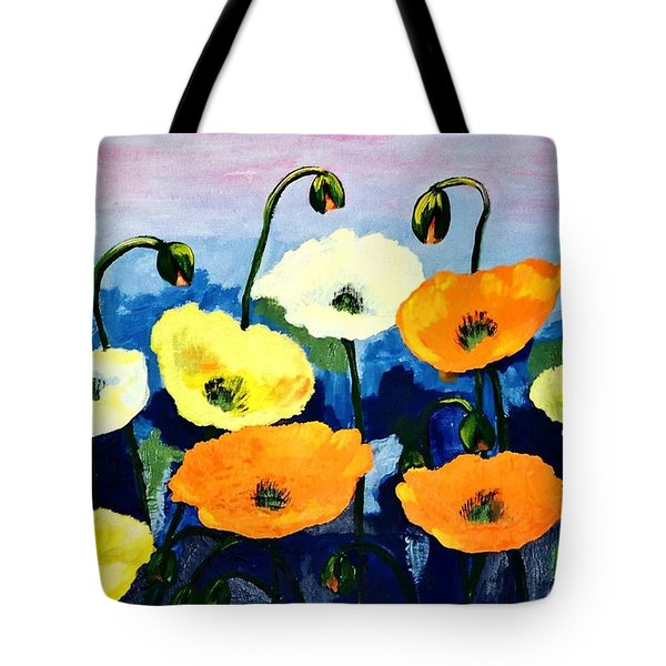 Poppies In Colour Tote Bag