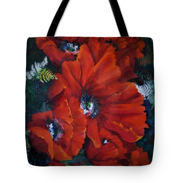 Poppies In Light IIi Tote Bag