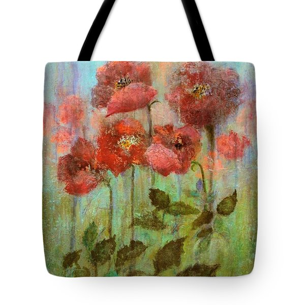Poppies In Pastel Watercolour Tote Bag
