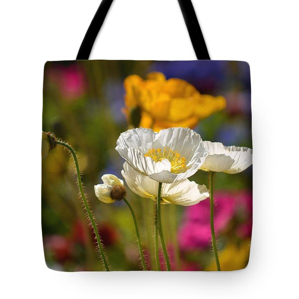 Poppies In The Spring Tote Bag