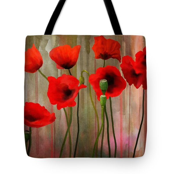 Tote Bag featuring the painting Poppies  by Ivana Westin