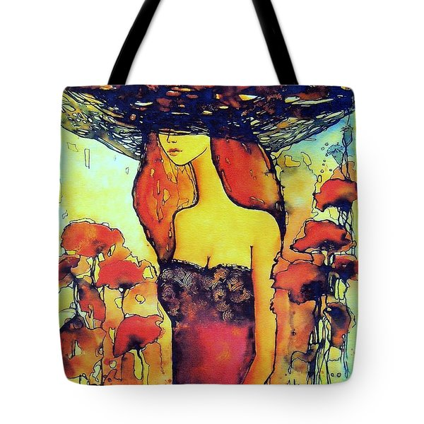 Poppies Lady Tote Bag