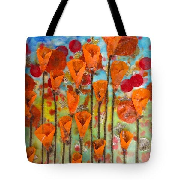 Poppies Make Me Happy Tote Bag