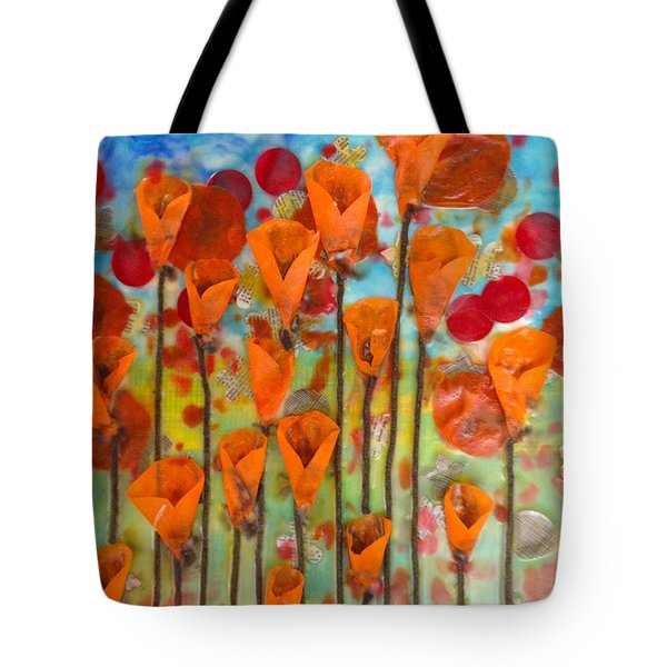 Poppies Make Me Happy Tote Bag