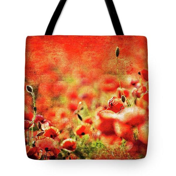 Poppies Tote Bag by Meirion Matthias