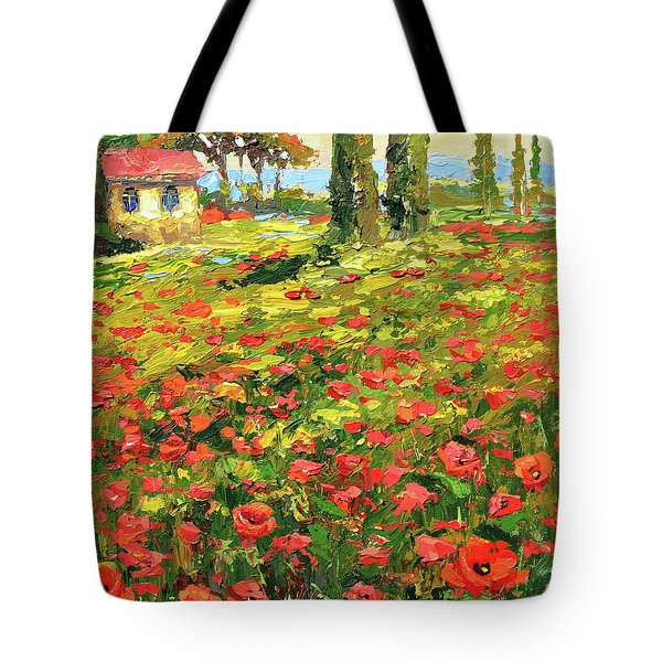 Poppies Near The Village Tote Bag
