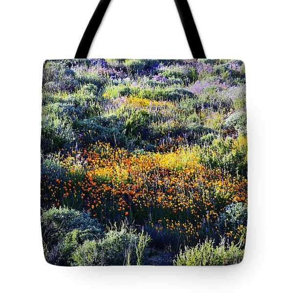 Tote Bag featuring the photograph Poppies On A Hillside by Glenn McCarthy Art and Photography