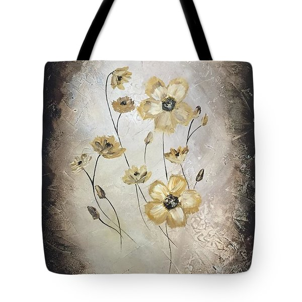 Poppies On Black Tote Bag