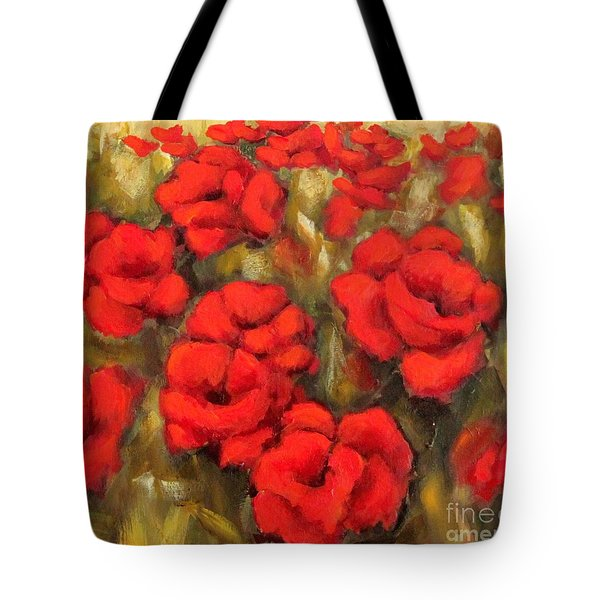 Poppies Passion Fragment Tote Bag