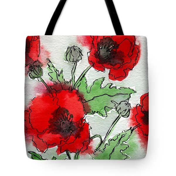 Poppies Popped Tote Bag