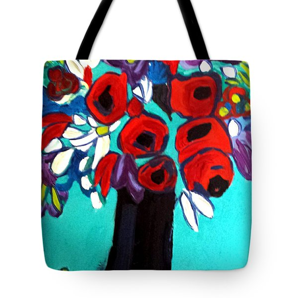 Poppies Red Tote Bag