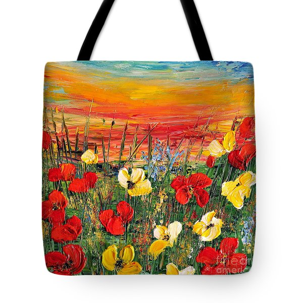 Poppies Tote Bag by Teresa Wegrzyn