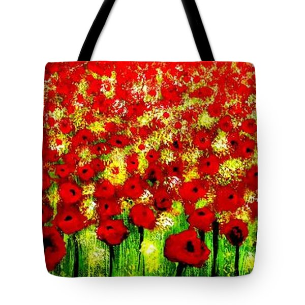 Poppies Tote Bag by Tim Townsend
