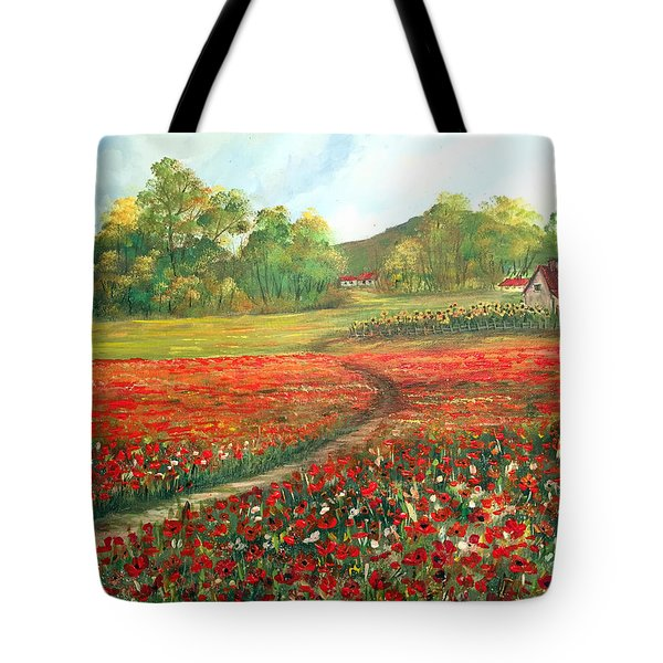Poppies Time Tote Bag